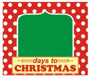 Days until Christmas Stock Photography
