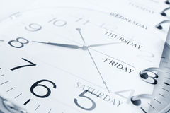 Days and clock Stock Photos