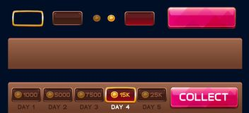 Days elements for slots games Stock Image