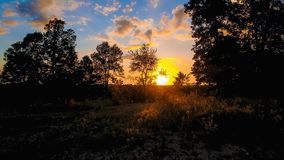 At Days End. Days end nature sun sunset color royalty free stock photography