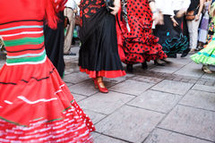 Days fair in Fuengirola Spain. Days holiday in Fuengirola Spain with typical men women dancer costume Stock Photography