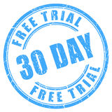 30 days free trial ink round stamp Royalty Free Stock Images