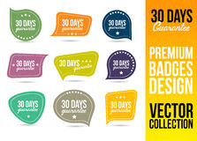 30 Days Guarantee Logo Badge Emblem. 30 Days Guarantee Logo Badge and Emblem in Flat Design Style Stock Photography