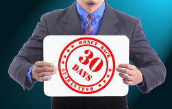 30 Days Guarantee money back Stock Photography