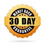 30 days money back guarantee icon. Isolated on white background royalty free illustration