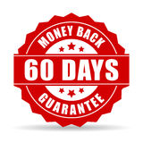 60 days money back guarantee icon. Over white Royalty Free Stock Photo