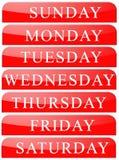 Days Name Stock Image