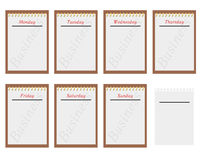 Days Of Week Royalty Free Stock Photography