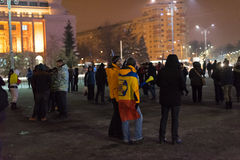 The 14 days of protests against the government in romania Stock Images