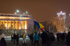 The 14 days of protests against the government in romania Stock Image