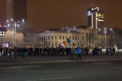 The 14 days of protests against the government in romania Stock Photography