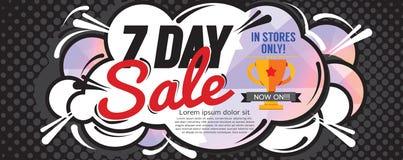7 Days Sale 6250x2500 pixel Banner. Stock Photo