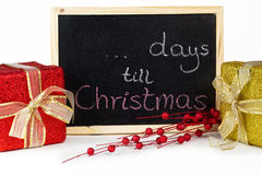 ... days till Christmas Royalty Free Stock Photo