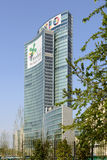 19 days to EXPO 2015,  Expo advertising on Regione building, Mil Royalty Free Stock Photos