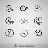 7 days vector icons Royalty Free Stock Photo