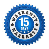 15 Days Warranty Badge Isolated Royalty Free Stock Photography