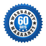 60 Days Warranty Badge Isolated Stock Photos