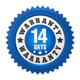 14 Days Warranty Badge Isolated Stock Photos
