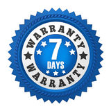 7 Days Warranty Badge Isolated Stock Photography