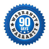 90 Days Warranty Badge Isolated Royalty Free Stock Photography
