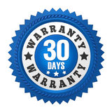 30 Days Warranty Badge Isolated Royalty Free Stock Photo