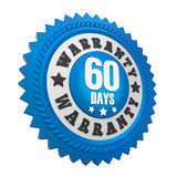 60 Days Warranty Badge Isolated Royalty Free Stock Images