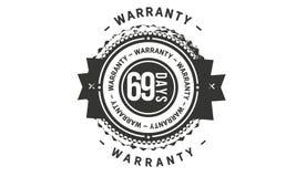 69 days warranty classic retro design icon. 69 days best warranty classic retro design icon vector illustration