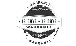 18 days warranty classic retro design icon. 18 days best warranty classic retro design icon royalty free illustration