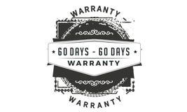 60 days warranty classic retro design icon. 60 days best warranty classic retro design icon royalty free illustration