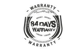 84 days warranty classic retro design icon. 84 days best warranty classic retro design icon vector illustration