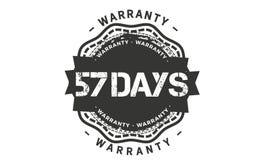 57 days warranty design,best black stamp. 57 days warranty design stamp badge icon vector illustration