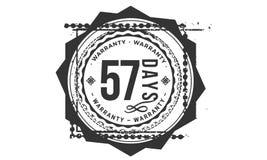 57 days warranty design,best black stamp. Illustration vector illustration