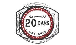 20 days warranty design,best black stamp. Illustration royalty free illustration