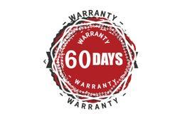 60 days warranty design,best black stamp. Illustration stock illustration