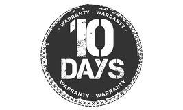 10 days warranty design,best black stamp. 10 days warranty design stamp badge icon vector illustration