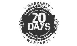 20 days warranty design,best black stamp. 20 days warranty design stamp badge icon royalty free illustration