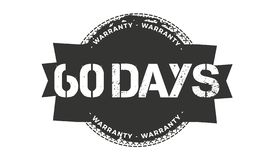 60 days warranty design,best black stamp. 60 days warranty design stamp badge icon vector illustration