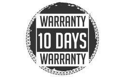 10 days warranty design,best black stamp. 10 days warranty design stamp badge icon stock illustration