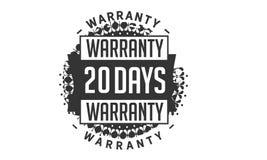 20 days warranty design,best black stamp. 20 days warranty design stamp badge icon vector illustration