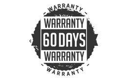 60 days warranty design,best black stamp. 60 days warranty design stamp badge icon royalty free illustration