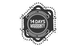 14 days warranty design,best black stamp. 14 days warranty design stamp badge icon vector illustration