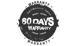 60 days warranty design,best black stamp. Illustration royalty free illustration