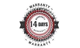 14 days warranty design,best black stamp. Illustration vector illustration