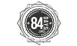84 days warranty design,best black stamp. Illustration stock illustration