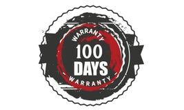 100 days warranty design,best black stamp. Illustration royalty free illustration