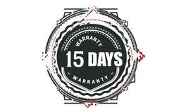 15 days warranty design,best black stamp. Illustration royalty free illustration