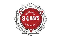 84 days warranty design,best black stamp. Illustration royalty free illustration