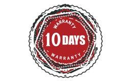 10 days warranty design classic,best black stamp. 10 days warranty design,best black stamp illustration royalty free illustration