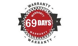 69 days warranty design classic,best black stamp. 69 days warranty design,best black stamp illustration royalty free illustration