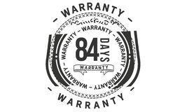 84 days warranty design classic,best black stamp. 84 days warranty design,best black stamp illustration vector illustration
